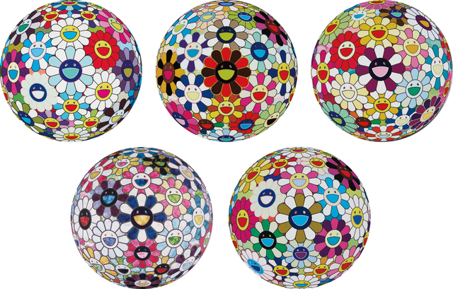 Takashi Murakami, 'Flower Ball (3-D) Sequoia sempervirens; Flower Ball (Lots of Colors); Flowerball sexual Violet No. 1 (3D); Right There, The Breadth of the Human Heart; and Autumn 2004', 2013, Phillips