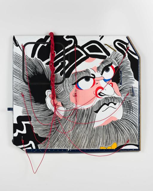 Sean Cordeiro & Claire Healy, 'Shoki', 2020, Sculpture, Iroquois aircraft panel, acrylic gouache, polyester cord, Roslyn Oxley9 Gallery