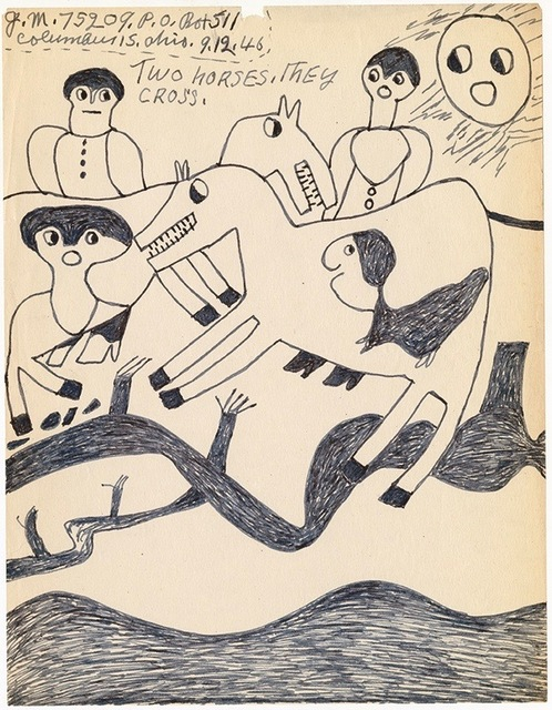 ", '""Two horses"",' 1946, Ricco/Maresca Gallery"