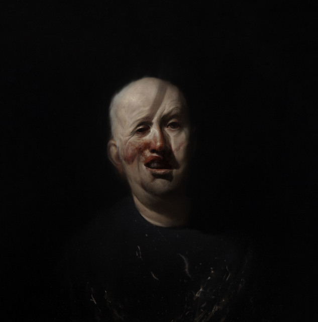 , 'Self Portrait After Henry Tonks 1,' 2013, Flowers