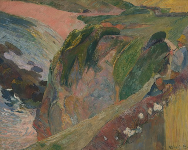 Paul Gauguin, 'The Flageolet Player on the Cliff,' 1889, Indianapolis Museum of Art at Newfields