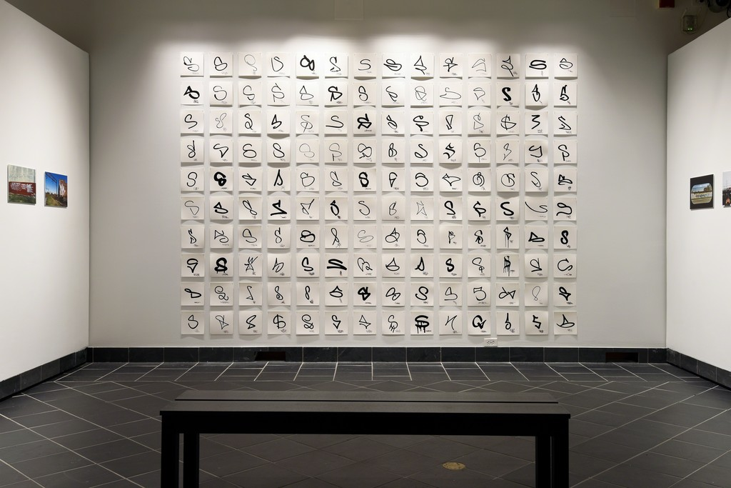ALL BIG LETTERS. Cantor Fitzgerald Gallery 2017. Photo: Lisa Boughter