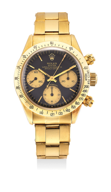 Rolex, 'A fine and rare yellow gold chronograph wristwatch with bracelet', Circa 1977, Phillips