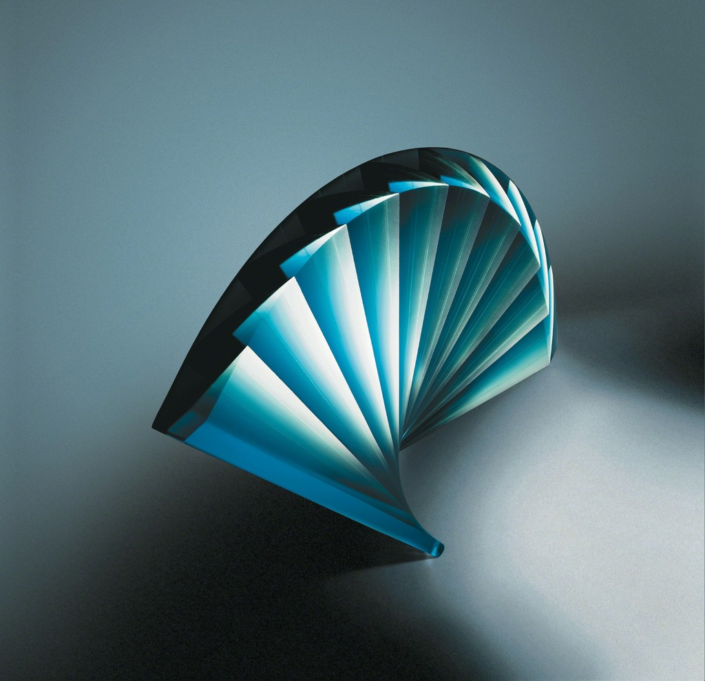 "Laszlo Lukacsi, ""Blue Fan"", 2015, Glass, 12.5 in. h x 19 in. w x 6 in. d"