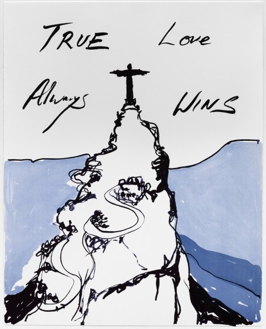 """Tracey Emin, 'TRUE LOVE ALWAYS WINS""""', 2016, Print, Four colour lithographic print on Somerset 300gsm Velvet White, Arts Limited"""