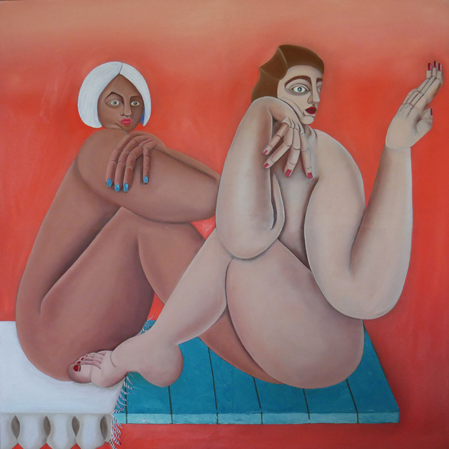 Georgia Dymock, 'Two Joined Figures', 2020, Painting, Oil on canvas, Maggio Art Consultancy