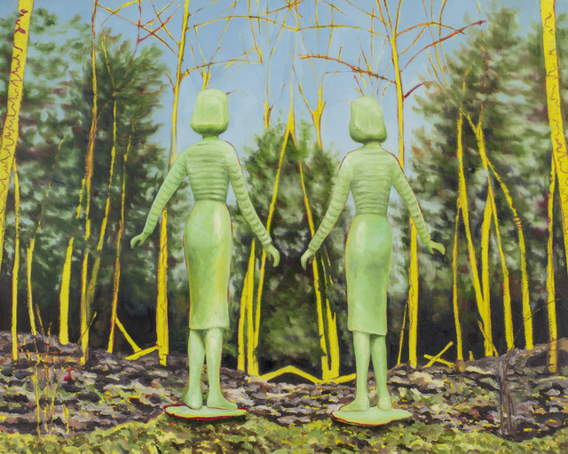 , 'Twin Green Women,' 2018, James May Gallery