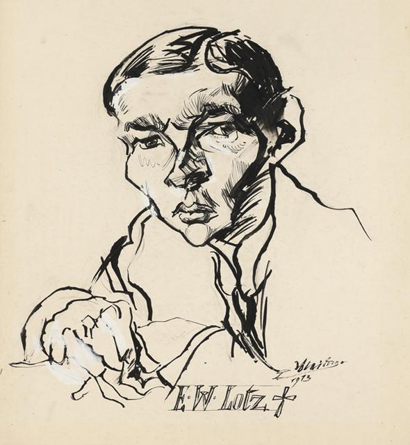 , 'Ernst Wilhelm Lotz,' 1913, Institut Mathildenhöhe Darmstadt