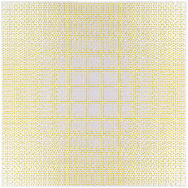, 'lilac-yellow,' 2017, Galerie Denise René