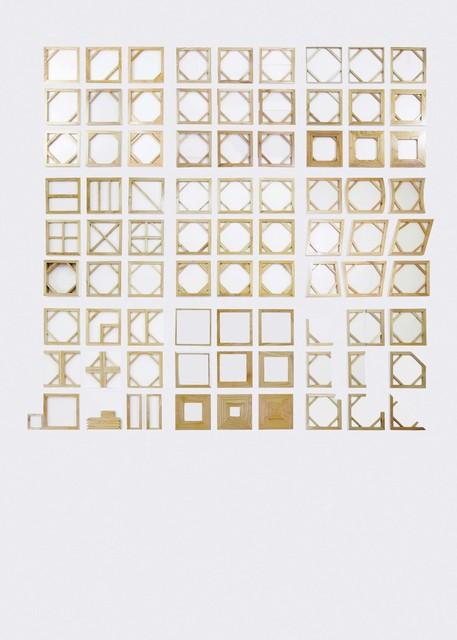 , 'Diagram of Canvas as A Language #1, #3 - #10,' 2014, Mizuma Art Gallery