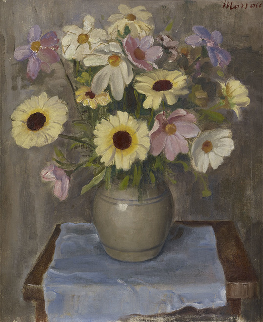, 'Still Life with Flowers and Blue Cloth,' ca. 1962, The Scottish Gallery