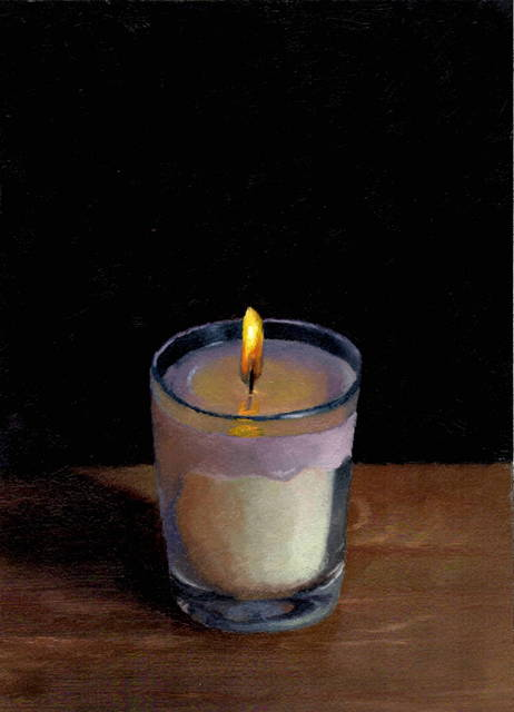 Julianna Wells, 'A Small Flame', 2018, Painting, Oil on paper, Abend Gallery