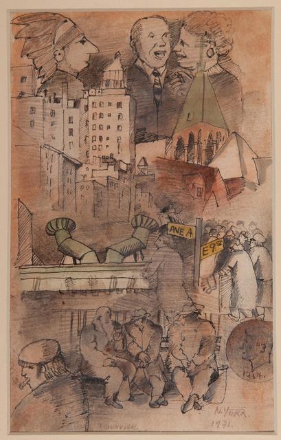 , 'City Skape,' 1971, Galería de las Misiones