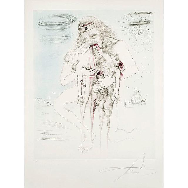 Salvador Dalí, 'Saturn (Saturne) (Kronos)', 1964, Print, Etching on Japon paper, Puccio Fine Art