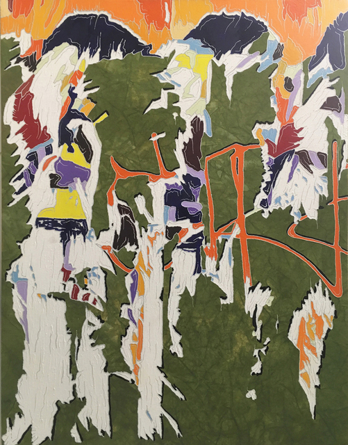 J Ivcevich, 'Untitled (Chance of Color Shred)', 2017, Painting, Mixed media on canvas, Garvey | Simon