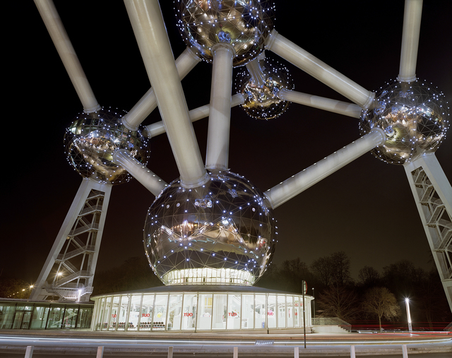 ", 'Brussels 1958 World's Fair, ""A New Humanism,"" Atomium at Night,' 2008, Tracey Morgan Gallery"