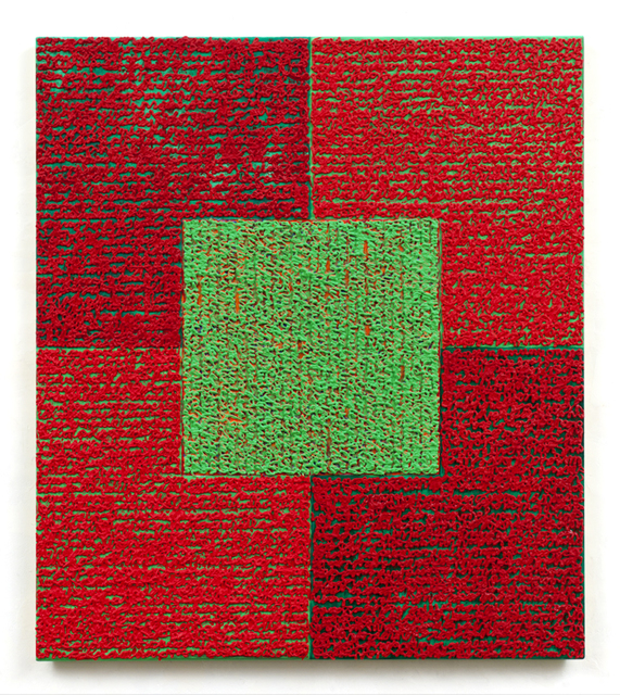 , 'Green Square With Reds,' 2010, Spanierman Modern