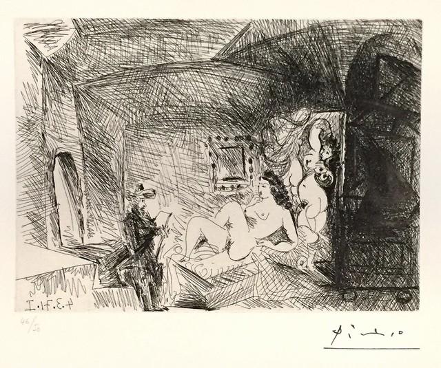 Pablo Picasso, 'Peintre, Modèle et Toile ', 1971, Wallector