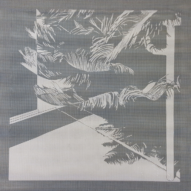 Elizabeth Ferrill, 'Illusion #7', 2018, Print, Rubylith screen print on wire mesh, Michael Warren Contemporary