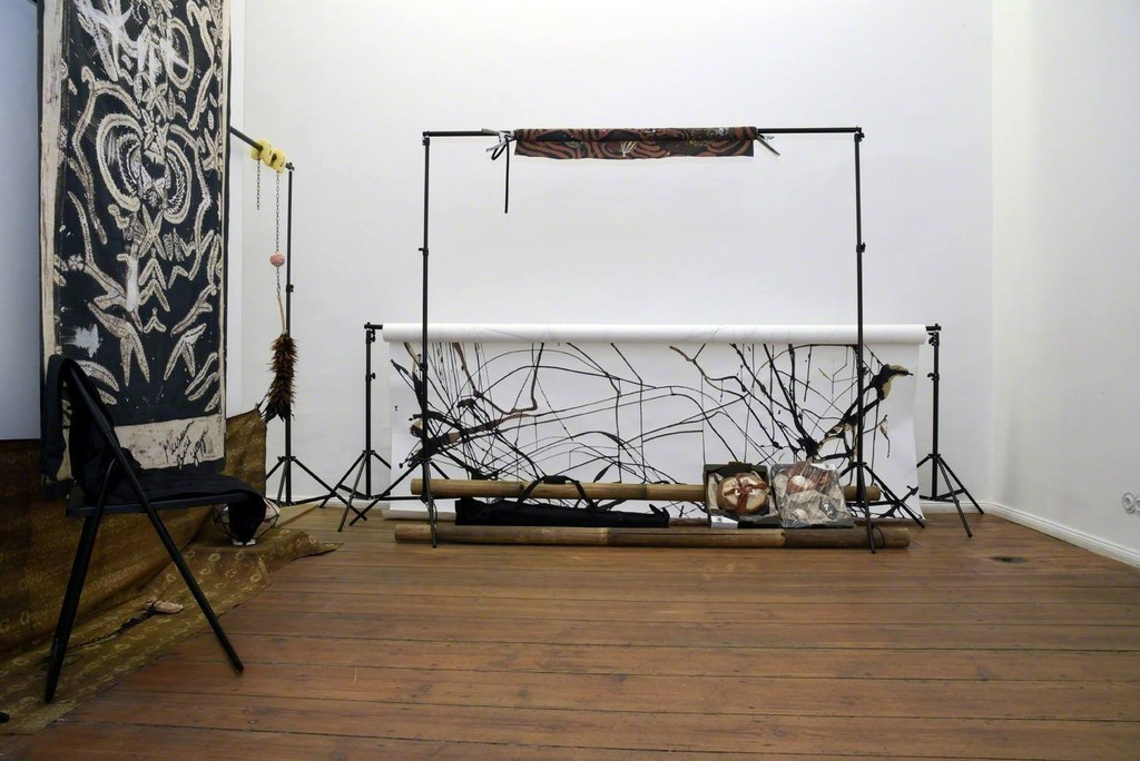 Ada Van Hoorebeke, Where Batik Belongs, 2016, installation view at Grimmuseum