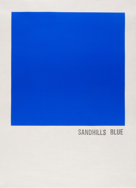 , 'Sandhills Blue,' 2016, Highpoint Editions