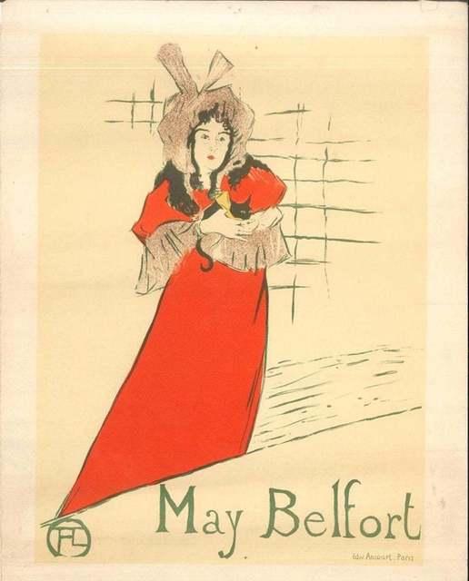 Henri de Toulouse-Lautrec, 'May Belfort (After H. de Toulouse-Lautrec)', 1951, Wallector