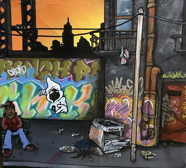 , 'Graffiti Art , Paris at dawn,' 2011, ArtGiverny