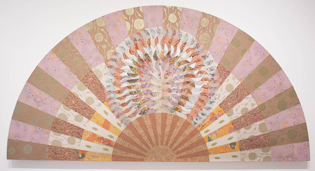 Miriam Schapiro, 'Fan of Spring', 1979, Mixed Media, Acrylic and fabric collage on canvas, Eric Firestone Gallery