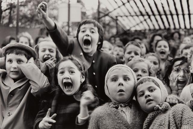 Alfred Eisenstaedt, 'Children at a Puppet Theatre, Paris', 1963-printed 1989, Phillips