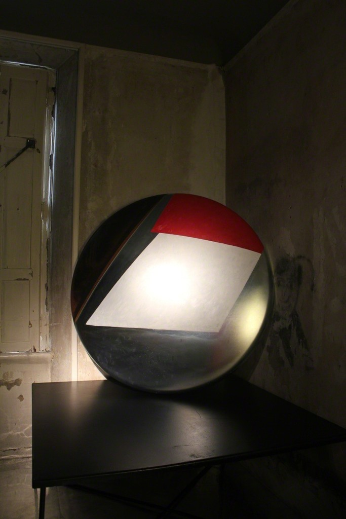 "Perched upon Anne Bianchet's table is the glorious ""Icaro"" by Giuseppe Friscia"