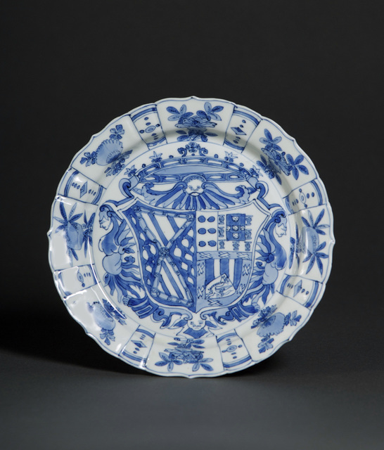 , 'Plate with the arms of García Hurtado de Mendoza y Manrique and Teresa de Castro y de la Cueva,' 1588-1593, Museum of Fine Arts, Boston