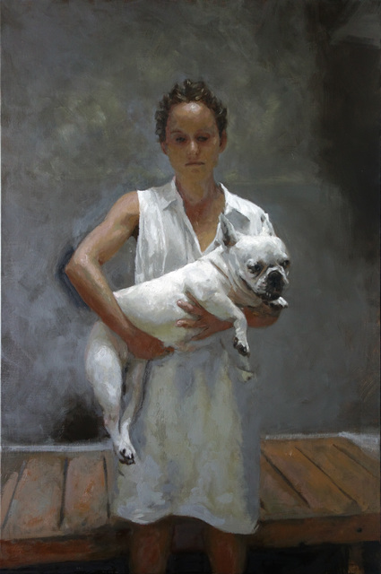, 'Woman with dog,' 2019, Galeria Contrast