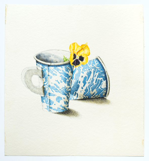 , '2 Marbled Cups with Flower,' ca. 1969, Allan Stone Projects