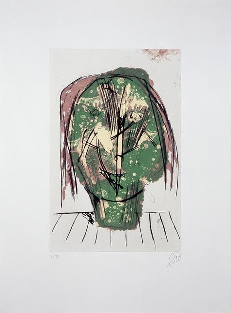 """Markus Lüpertz, 'Männer ohne Frauen - Parzival (from the portfolio """"Für die Pinakothek der Moderne"""")', 1995, Print, Etching (dry-point, sugarlift), Galerie Klüser"""