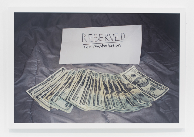 , 'Reserved for masturbation,' 2007, The Hole
