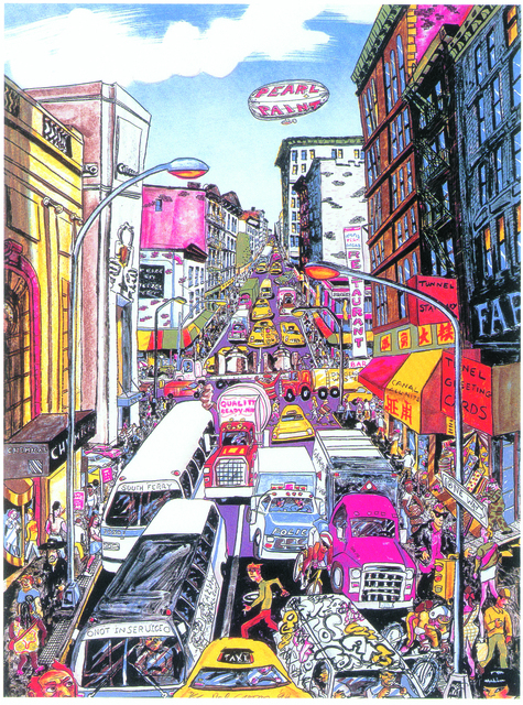 , 'Looking Up Broadway, Again,' 1993, Marlborough Gallery