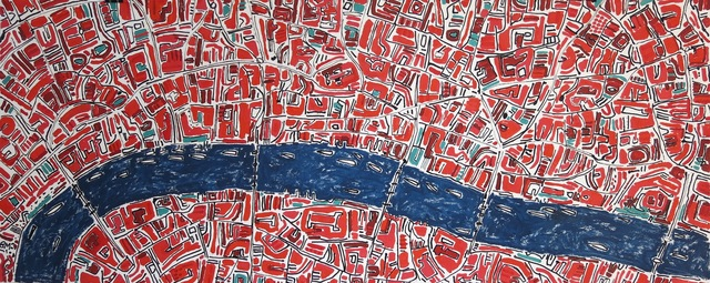 , 'Brilliant Red London,' 2017, Rebecca Hossack Art Gallery