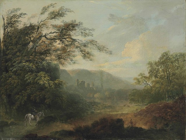 , 'Landscape with a traveler on horseback and ruins in the distance,' , Christie's Old Masters