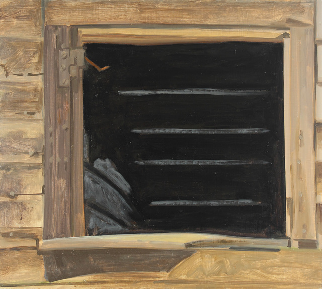 Lois Dodd, 'Empty Window, Black', 1979, Painting, Oil on Masonite, Alexandre Gallery