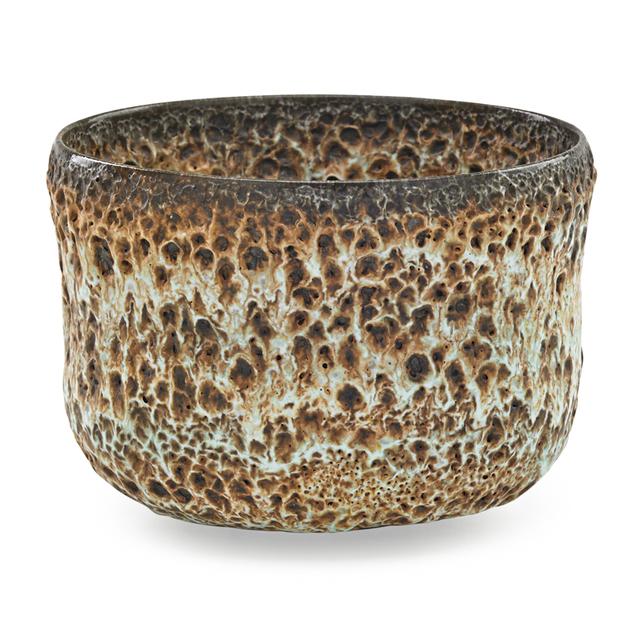 Otto Natzler, 'Straight-sided bowl, verdigris volcanic glaze, Los Angeles, CA', Rago/Wright