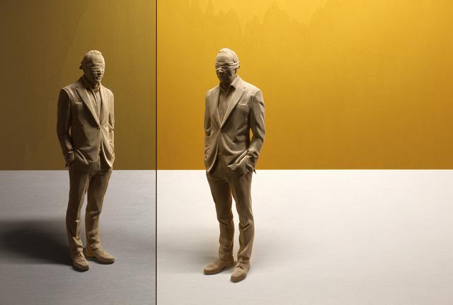Peter Demetz, 'Self-reflection', 2017, Sculpture, Wooden sculpture, light box, Gallery LEE & BAE