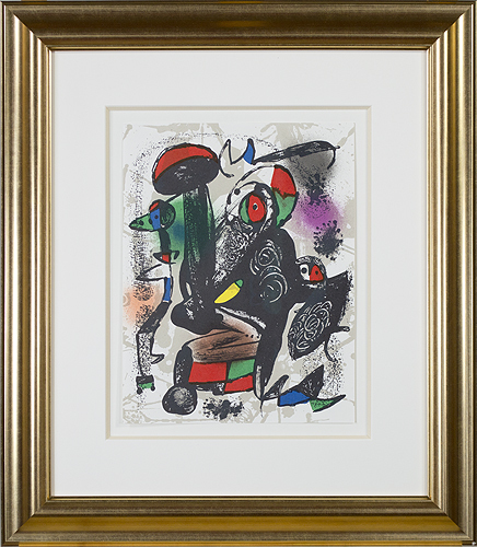 ", 'Lithographie Originale III from ""Miro Lithographs IV, Maeght Publisher"",' 1981, David Barnett Gallery"
