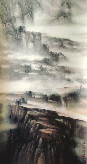 Poon Chun Wah, 'Talking to Beautiful Landscape 山光共語', 2007, Painting, Chinese ink & colour on paper, Alisan Fine Arts