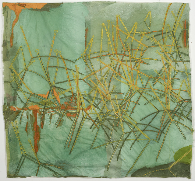Nancy Cohen, 'Lake Lines', 2020, Drawing, Collage or other Work on Paper, Paper pulp and handmade paper, Kathryn Markel Fine Arts