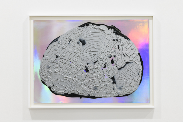 Adam Colton, 'Silver Dream No. 2', 2018, Drawing, Collage or other Work on Paper, Acrylic on iridescent paper, Slewe Gallery