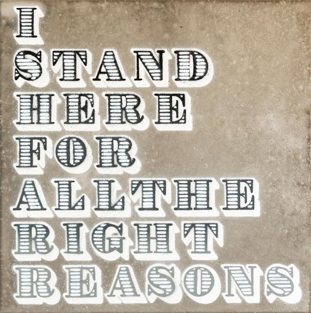 , 'I Stand Here For All The Right Reasons (Concrete),' 2018, StolenSpace Gallery