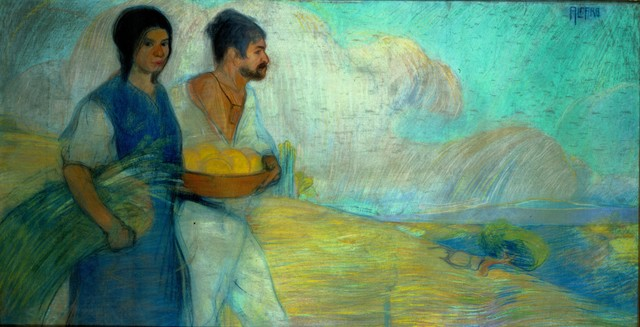, 'Peasants,' 1913, Philadelphia Museum of Art