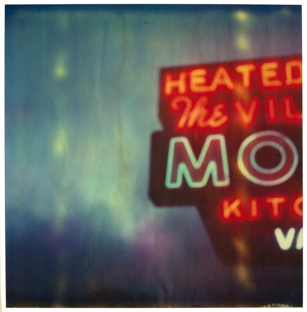 , 'The Village Motel Blue - analog, mounted, Polaroid, Contemporary, Icons, Color, Neon,' 2005, Instantdreams