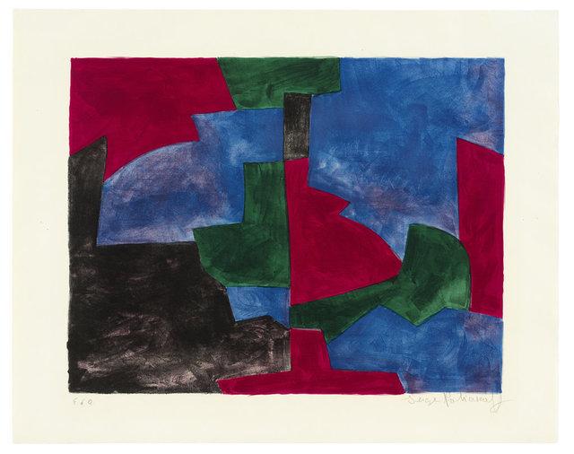 , 'Composition verte, rouge et bleue,' 1966, Ludorff
