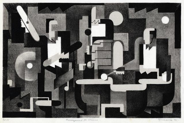 , 'Arrangement for Drums.,' 1941, The Old Print Shop, Inc.
